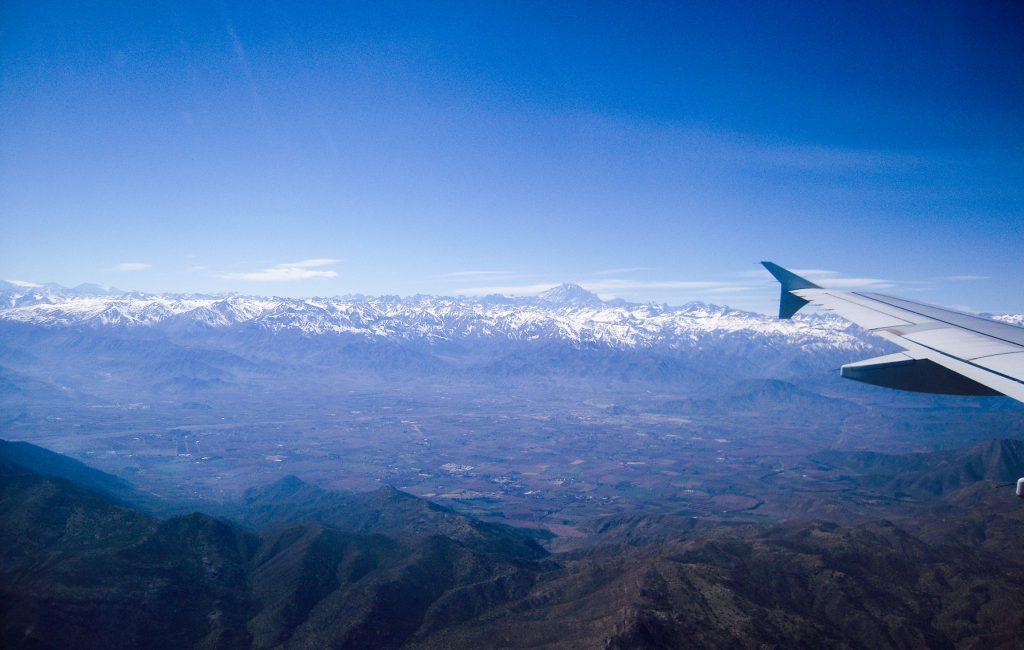 Cordillera de los Andes (desde el avión)