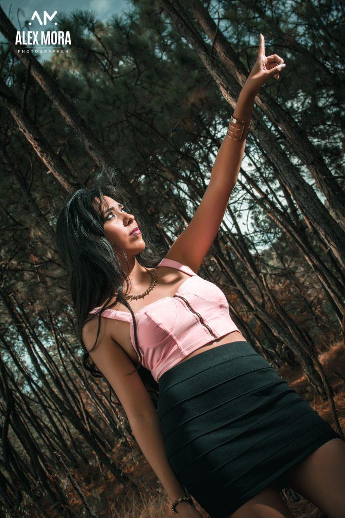 Sesión fotográfica casual en el bosque uruapan michoacán