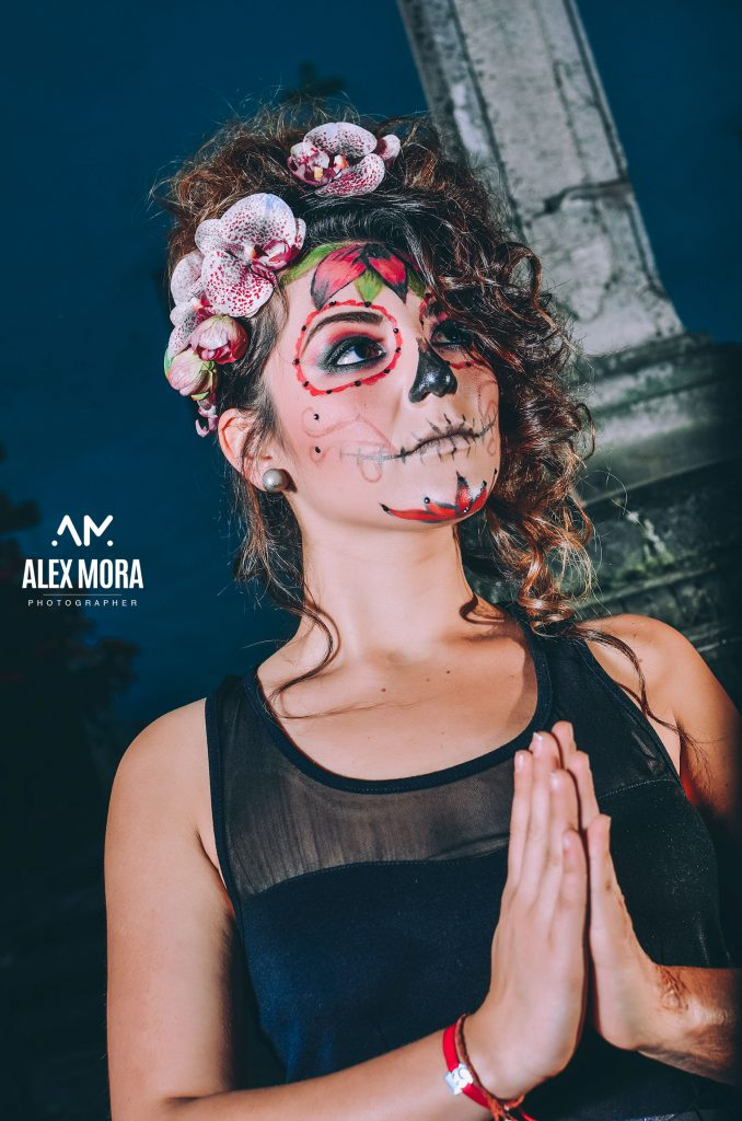 tania photoshoot para calendario promocional uruapan mexico catrina dia de muertos mexico