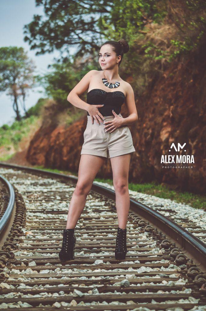 sesion fotografica vintage moda vias del tren uruapan morelia mexico